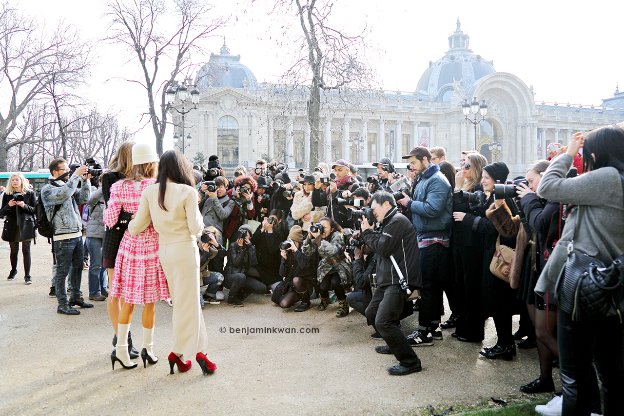 Anna Dello Russo at Chanel FW 2014 Paris Snapped by Benjamin Kwan     Paris Fashion Week