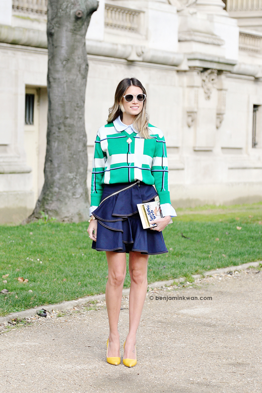 Helena Bordon at Chanel FW 2014 Paris Snapped by Benjamin Kwan Paris Fashion Week