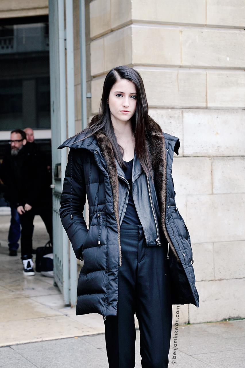 Rachel Robinson at Roland Mouret FW 2014 Paris Snapped by Benjamin Kwan Paris Fashion Week