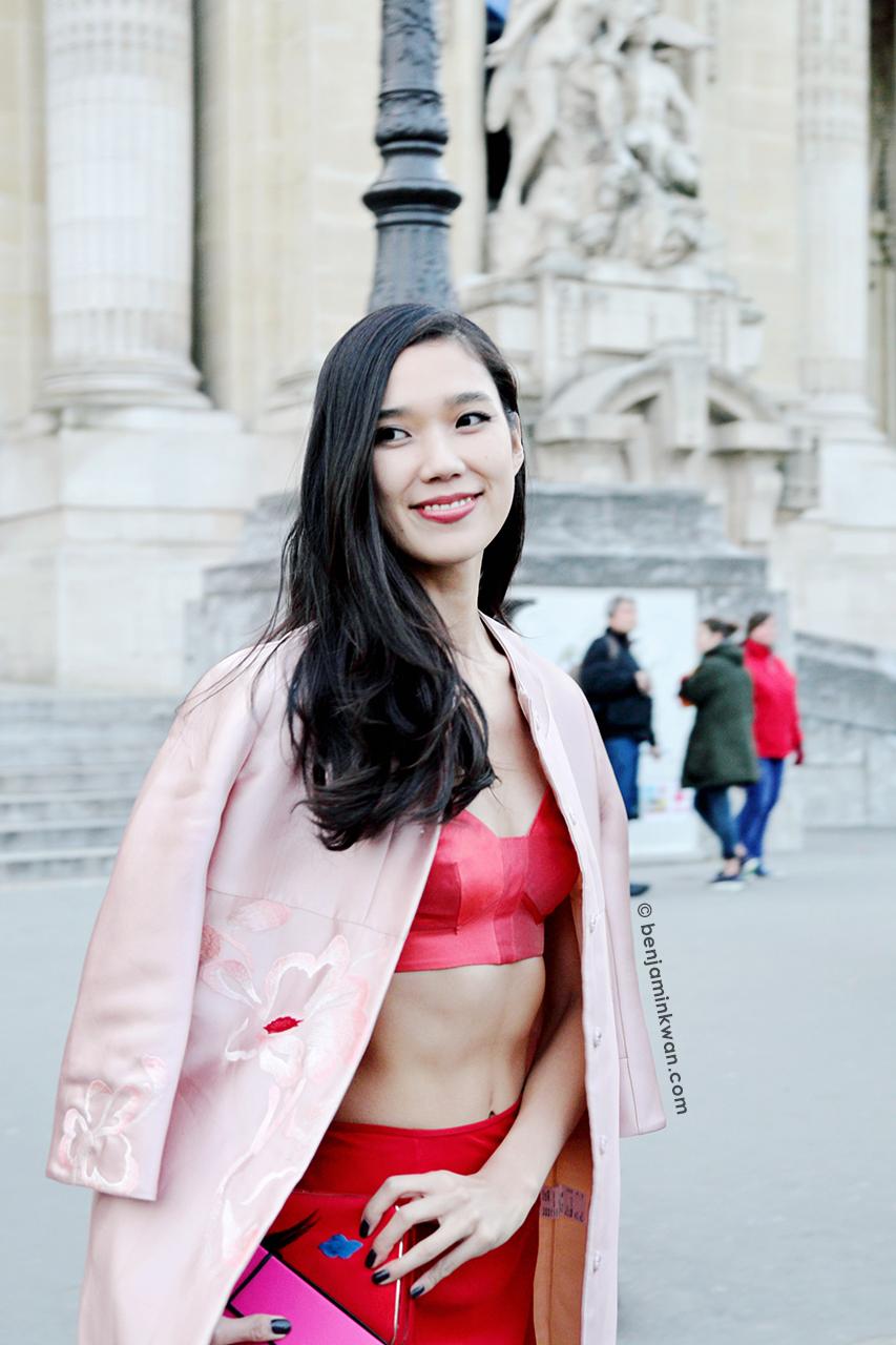 Tao Okamoto at Shiazty Chen FW 2014 Paris Snapped by Benjamin Kwan Paris Fashion Week