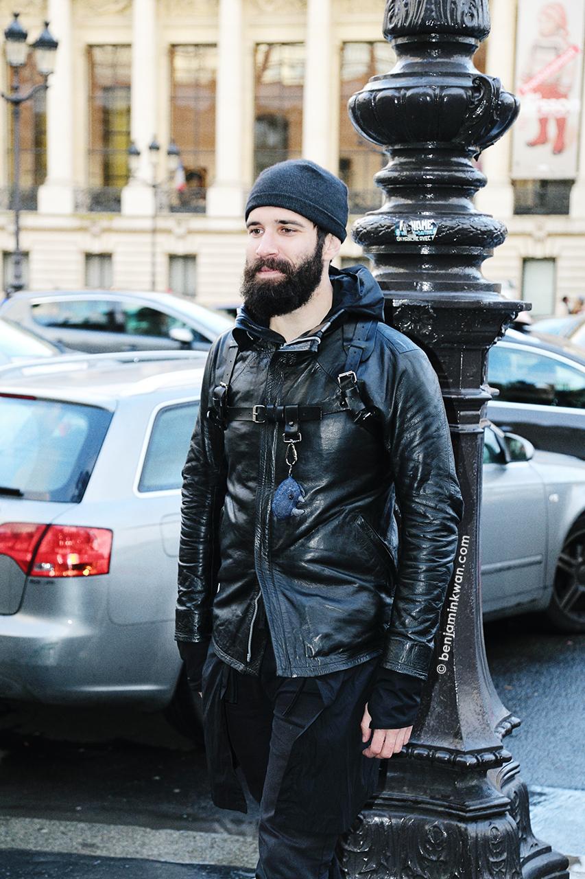 Adam Katz Sinding at Vanessa Bruno FW 2014 Paris Snapped by Benjamin Kwan Paris Fashion Week