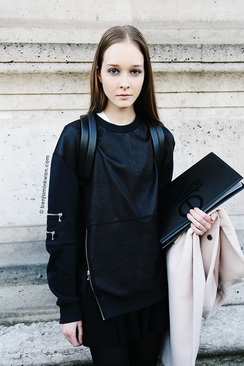 Nicole Keimig at Andrew Gn FW 2014 Paris Snapped by Benjamin Kwan Paris Fashion Week