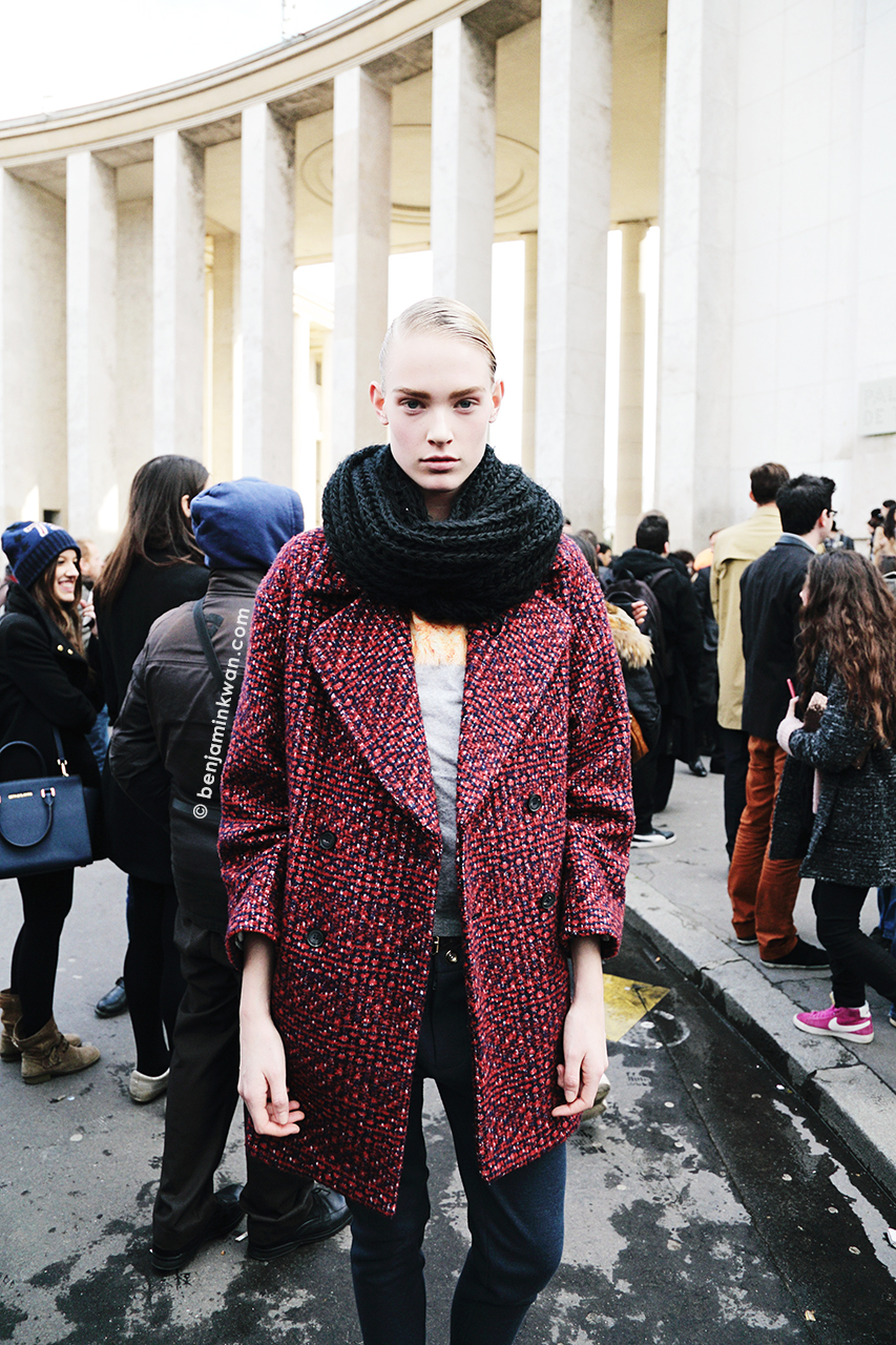 Charlene Hogger at Acne Studios FW 2014 Paris Snapped by Benjamin Kwan Paris Fashion Week