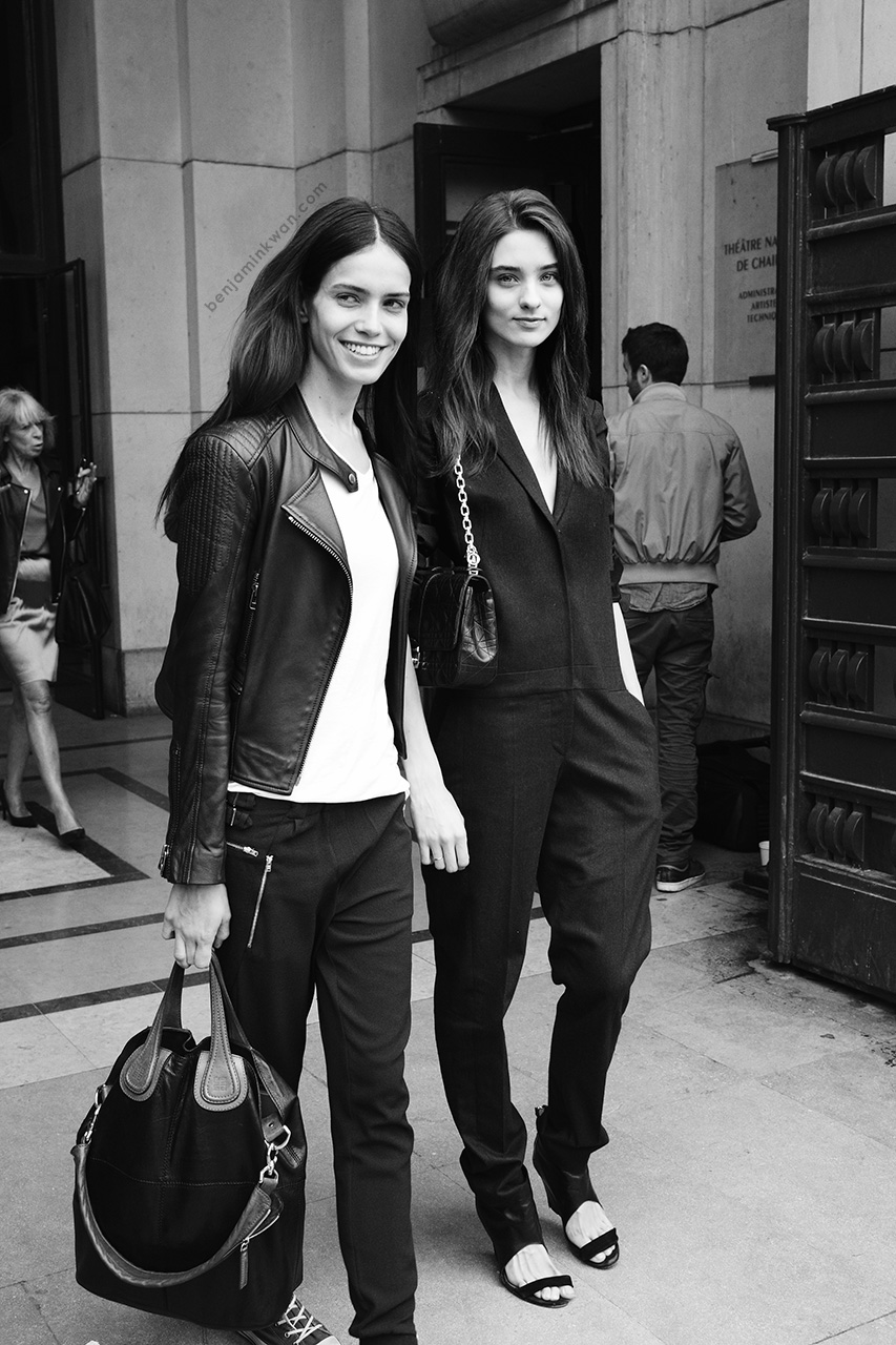 Amanda Wellsh & Carolina Thaler at Haider Ackermann SS 2014     Paris Snapped by Benjamin Kwan     Paris Fashion Week