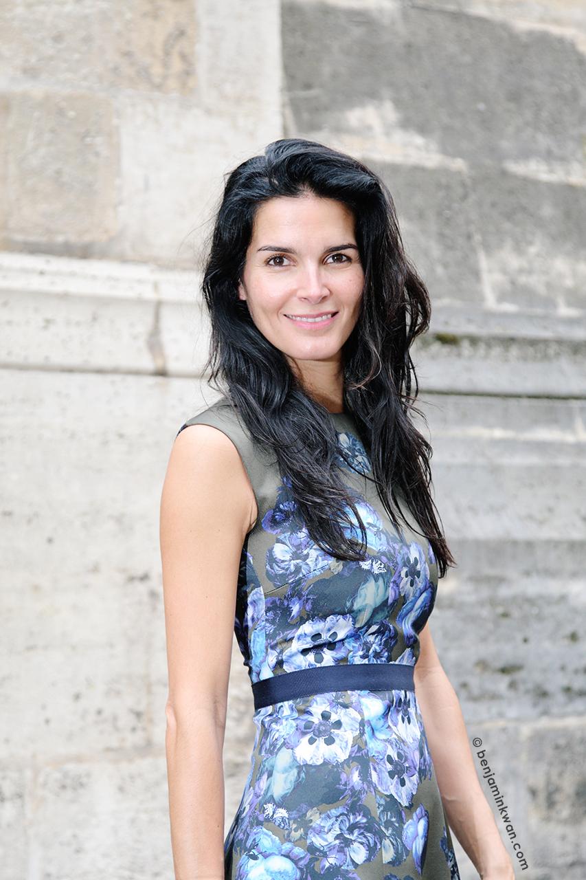 Angie Harmon at Giambattista Valli SS 2014 Paris Snapped by Benjamin Kwan     Paris Fashion Week