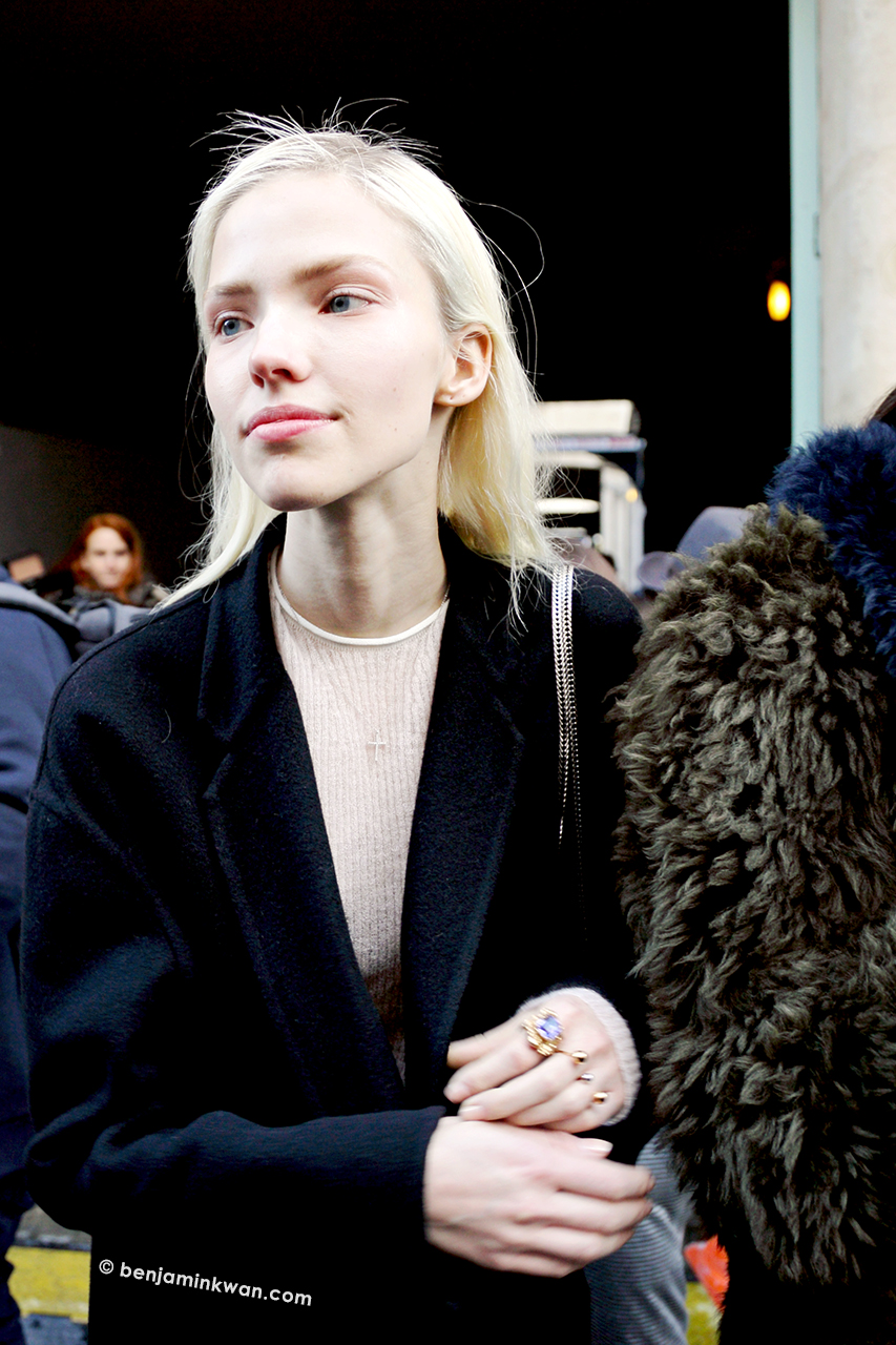 Sasha Luss at Barbara Bui FW 2014 Paris Snapped by Benjamin Kwan     Paris Fashion Week