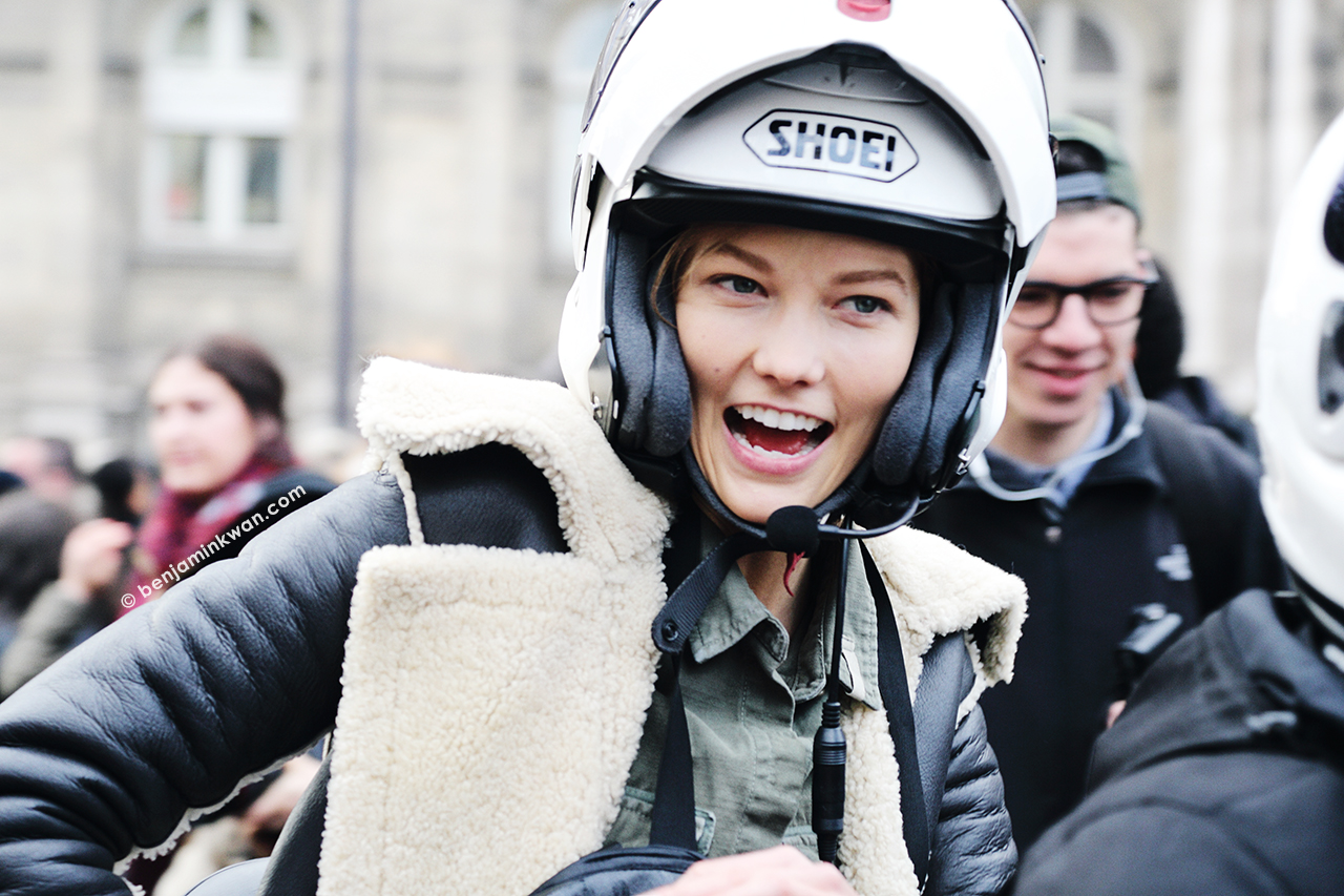 Karlie Kloss at Balmain FW 2014 Paris Snapped by Benjamin Kwan     Paris Fashion Week
