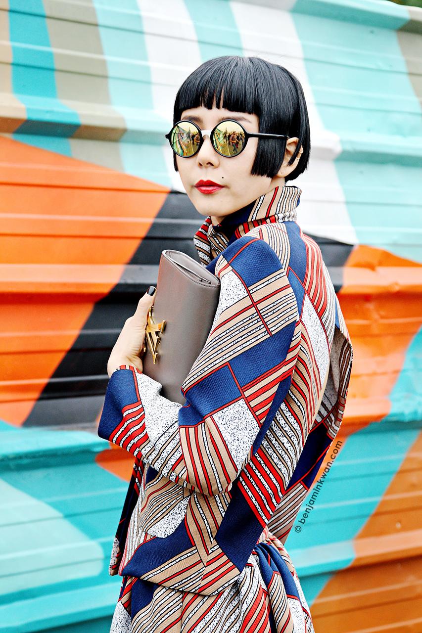 Na Young Kim at Kenzo SS 2014 Paris Snapped by Benjamin Kwan     Paris Fashion Week