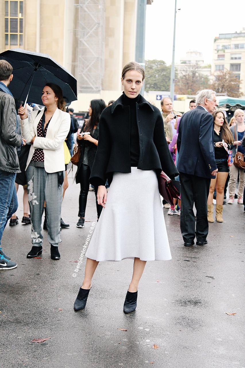 Vanessa Traina at Haider Ackermann SS 2014 Paris Snapped by Benjamin Kwan     Paris Fashion Week
