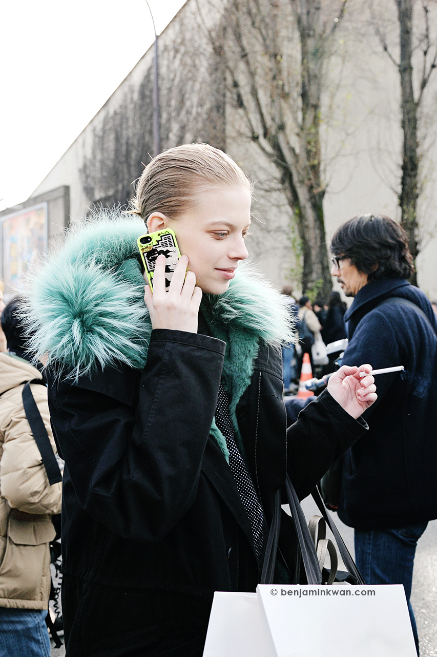 Lexi Boling at Celine FW 2014 Paris Snapped by Benjamin Kwan Paris Fashion Week