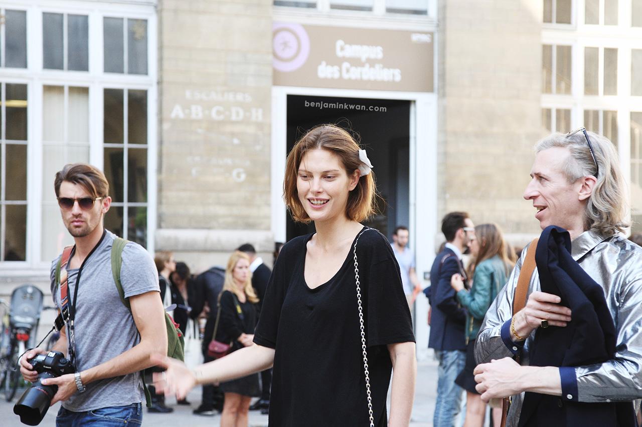 Catherine McNeil at Isabel Marant SS 2014Paris Snapped by Benjamin Kwan Paris Fashion Week