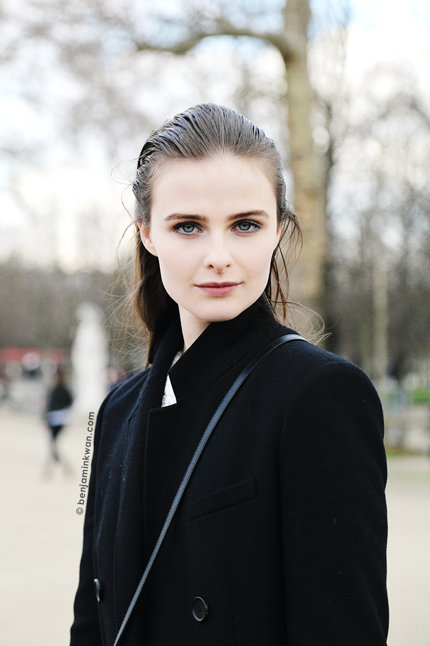 Vasilisa Pavlova at Valentino FW 2014 Paris Snapped by Benjamin Kwan Paris Fashion Week