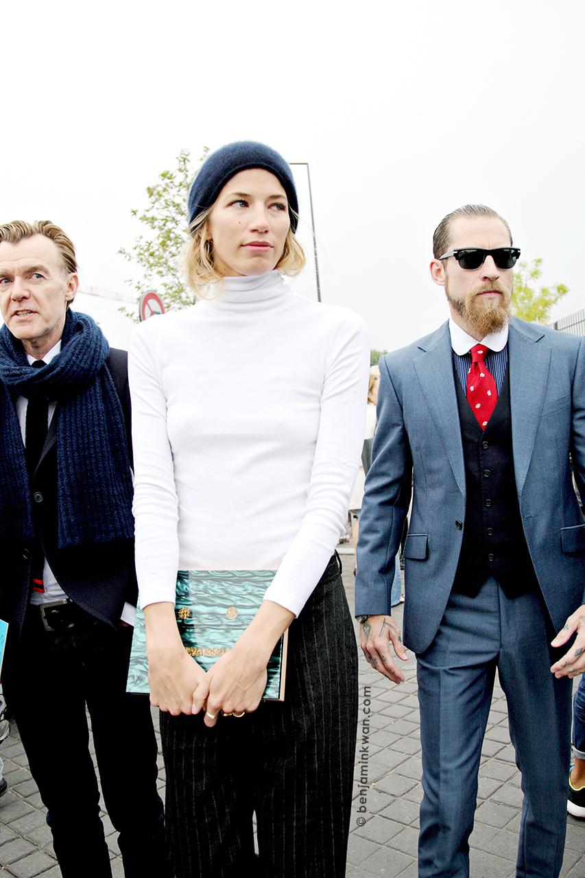 Ken Downing, Veronika Heilbrunner and Justin O'Shea at Kenzo SS 2014 Paris Snapped by Benjamin Kwan Paris Fashion Week
