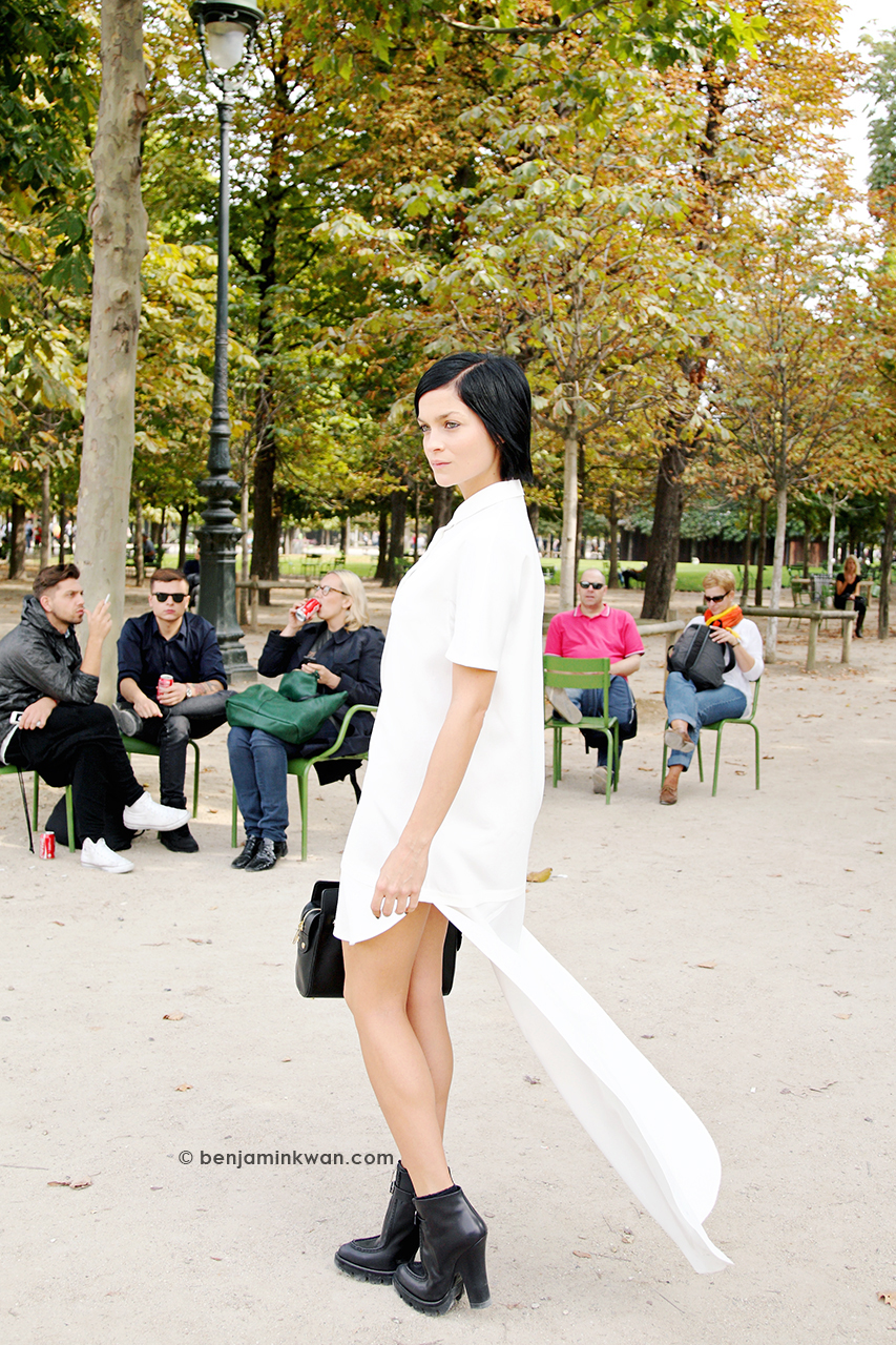 Leigh Lezark at Viktor & Rolf SS 2014 Paris Snapped by Benjamin Kwan     Paris Fashion Week