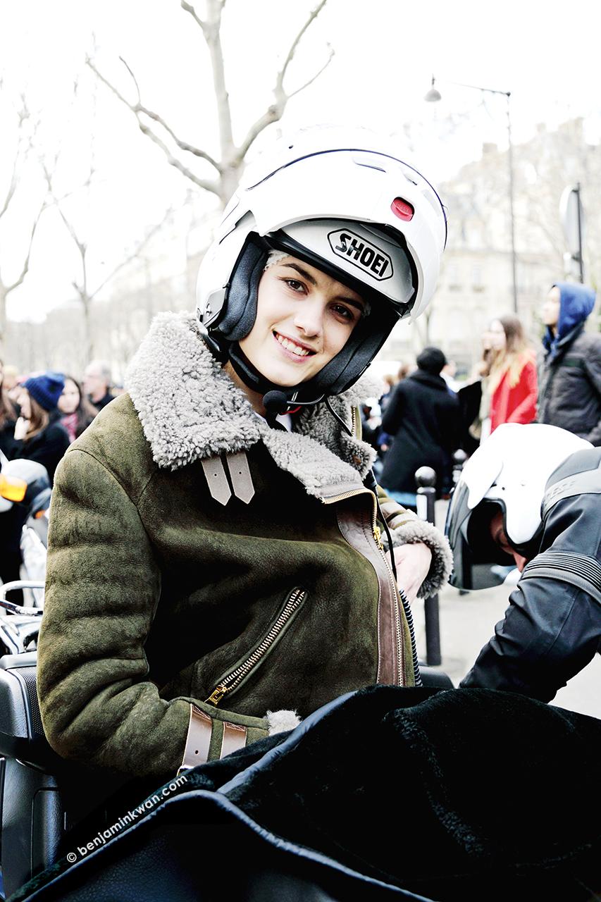 Ronja Furrer at Acne Studios FW 2014 Paris Snapped by Benjamin Kwan Paris Fashion Week