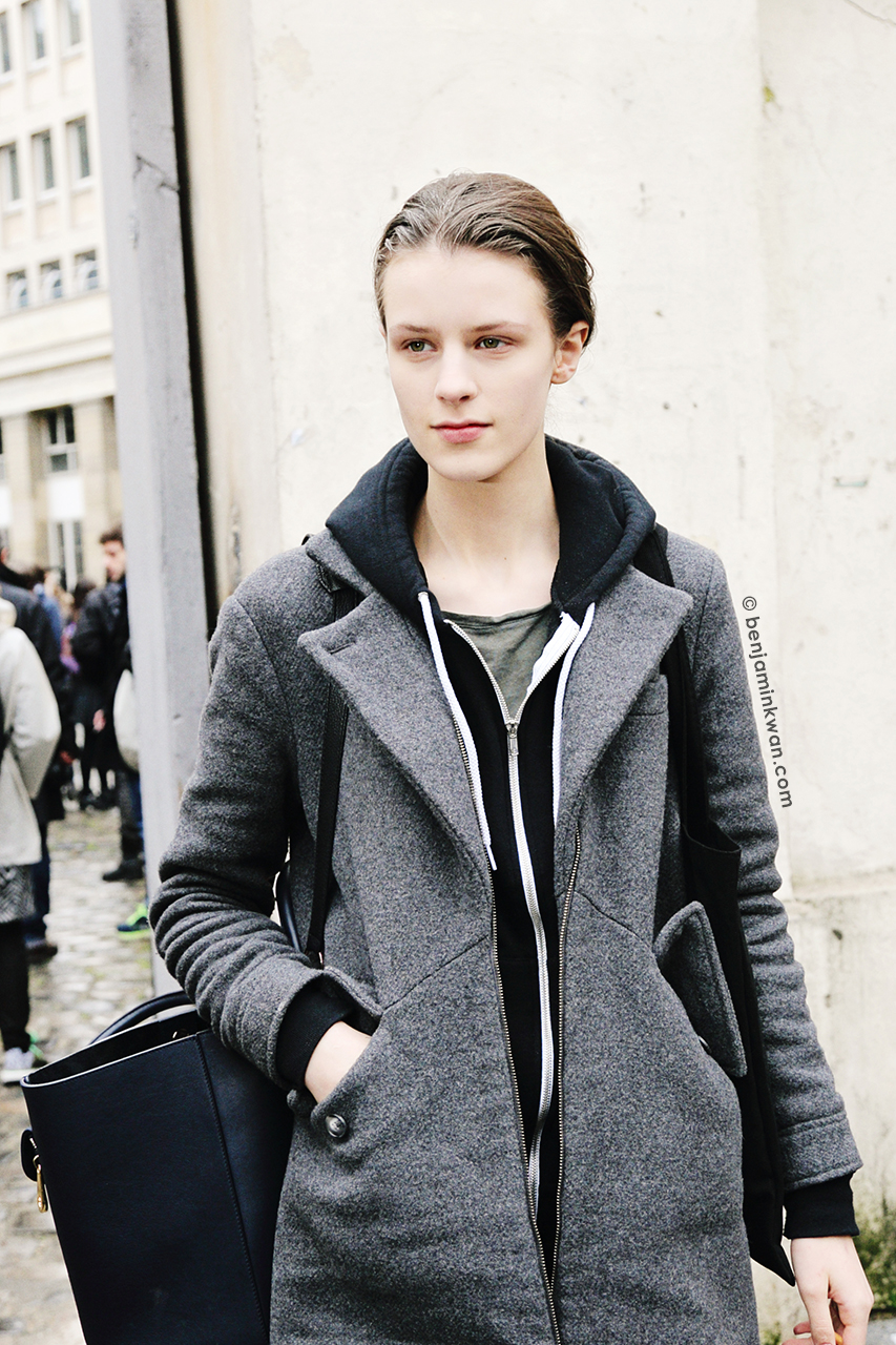 Kayley Chabot at Ann Demeulemeester FW 2014 Paris Snapped by Benjamin Kwan     Paris Fashion Week