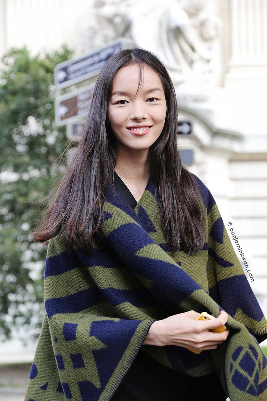 Fei Fei Sun at Dries Van Noten SS 2015 Paris Snapped by Benjamin KwanParis Fashion Week