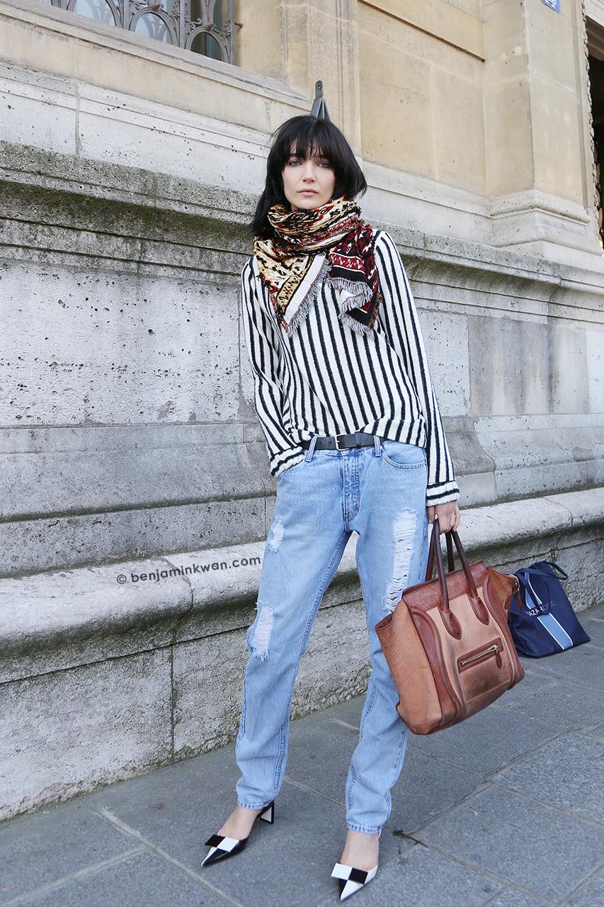 Janice Alida at Hussein Chalayan SS 2015 Paris Snapped by Benjamin KwanParis Fashion Week
