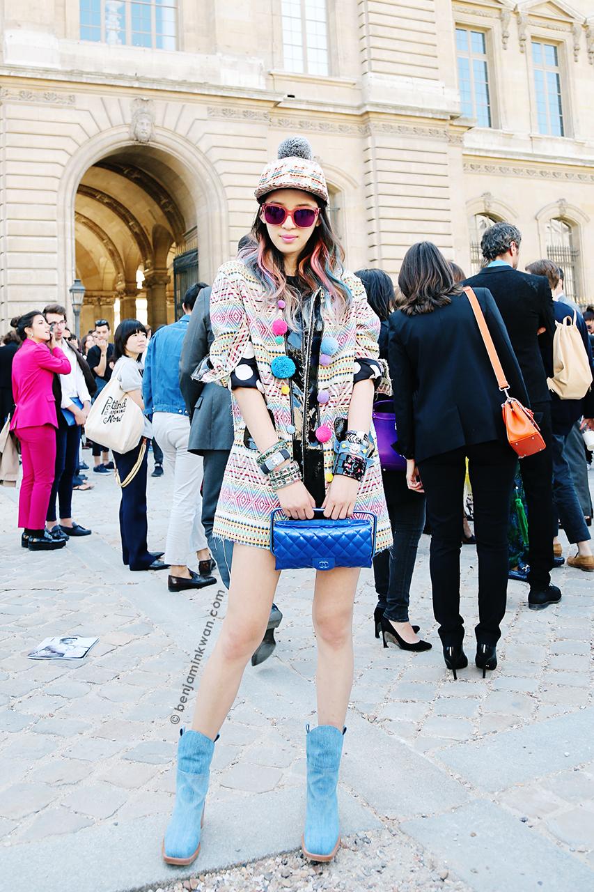 Irene Kim at Dior SS 2015 Paris Snapped by Benjamin Kwan Paris Fashion Week