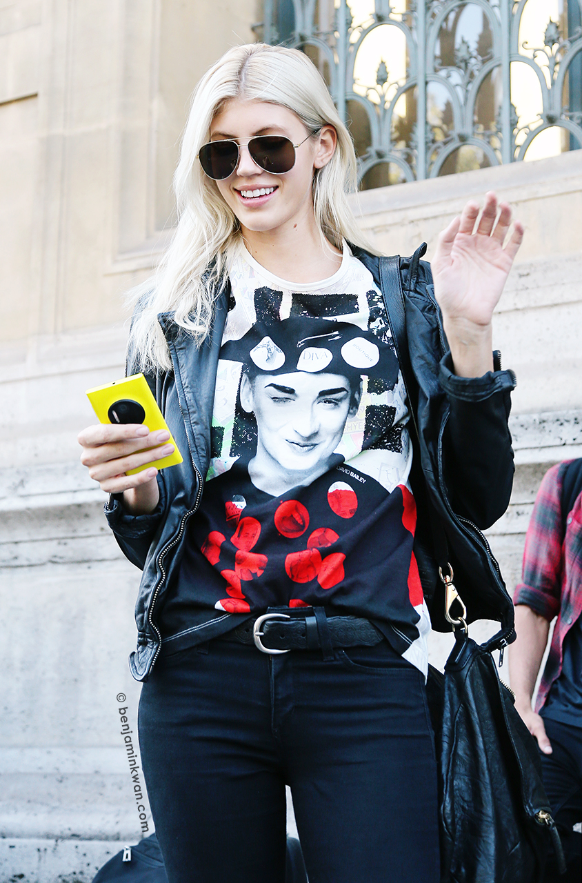 Devon Windsor at Hussein Chalayan SS 2015 Paris Snapped by Benjamin Kwan Paris Fashion Week