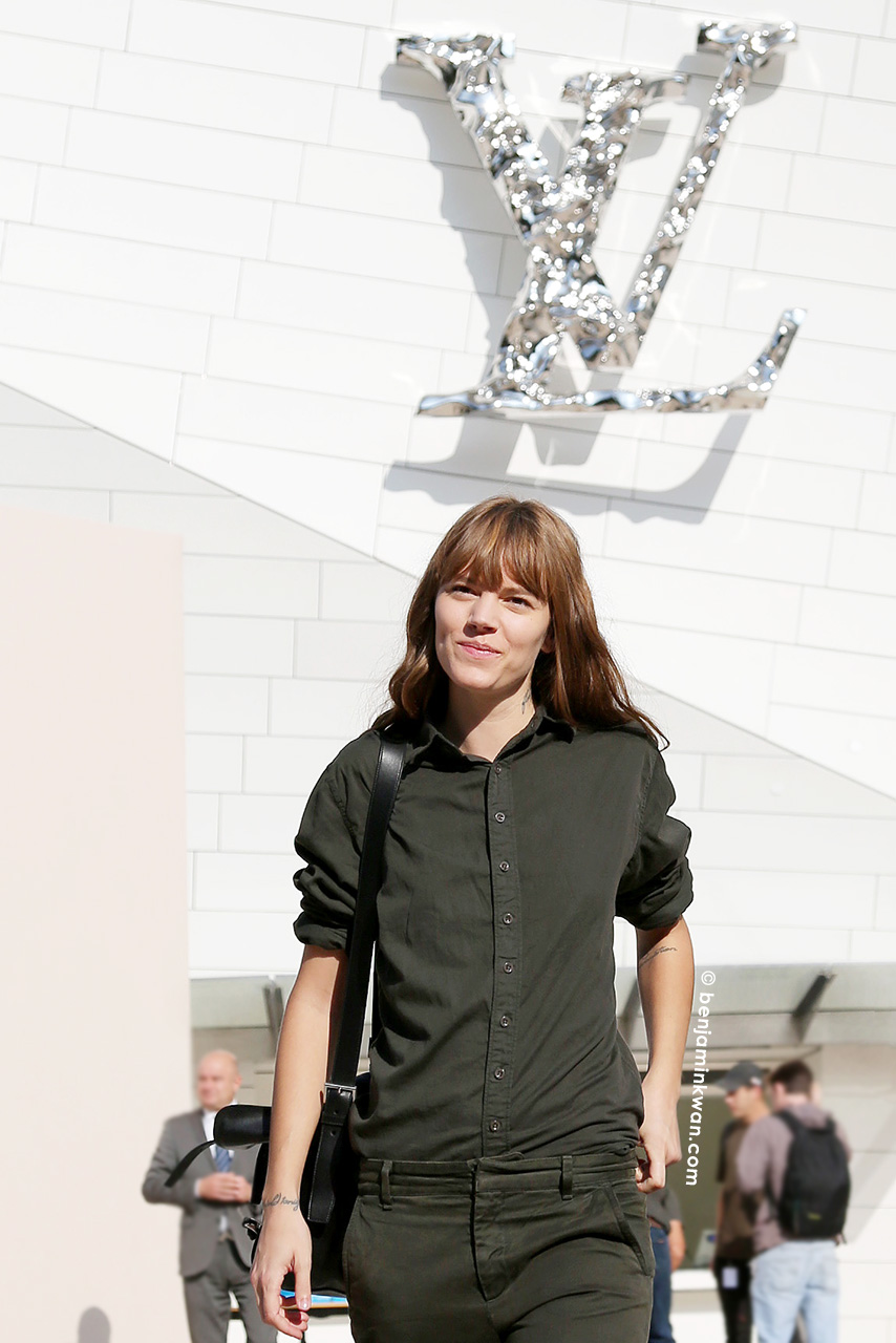 Freja Beha Erichsen at Louis Vuitton SS 2015 Paris Snapped by Benjamin Kwan     Paris Fashion Week