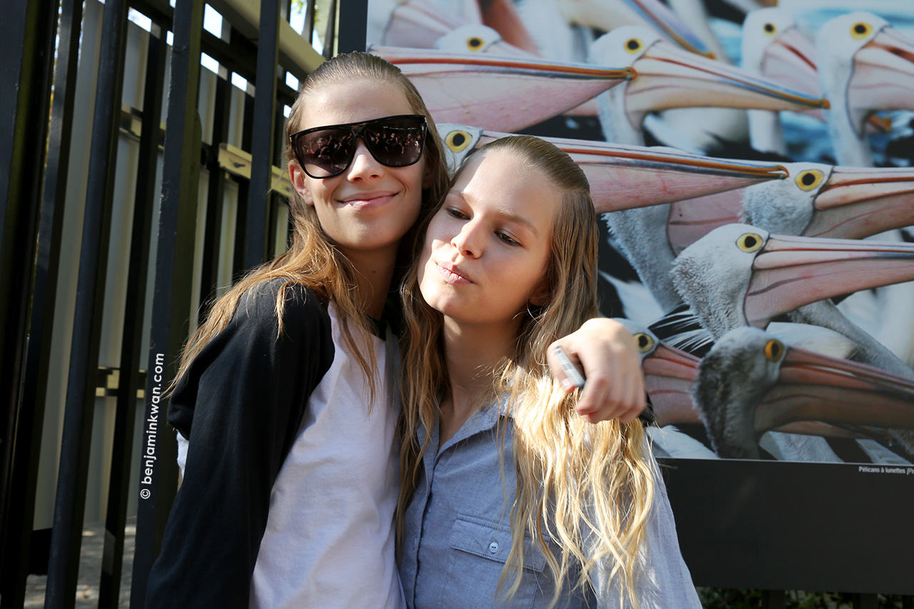 Lexi Boling and Anna Ewers at Miu Miu SS 2015 Paris Snapped by Benjamin Kwan     Paris Fashion Week