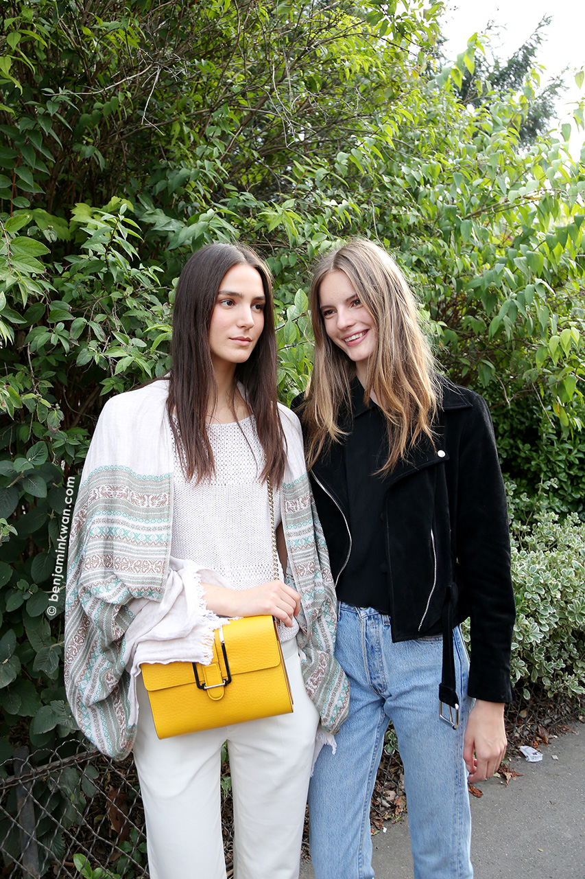 Mijo Mihaljcic and Tilda Lindstam at Chloe SS 2015 Paris Snapped by Benjamin Kwan Paris Fashion Week