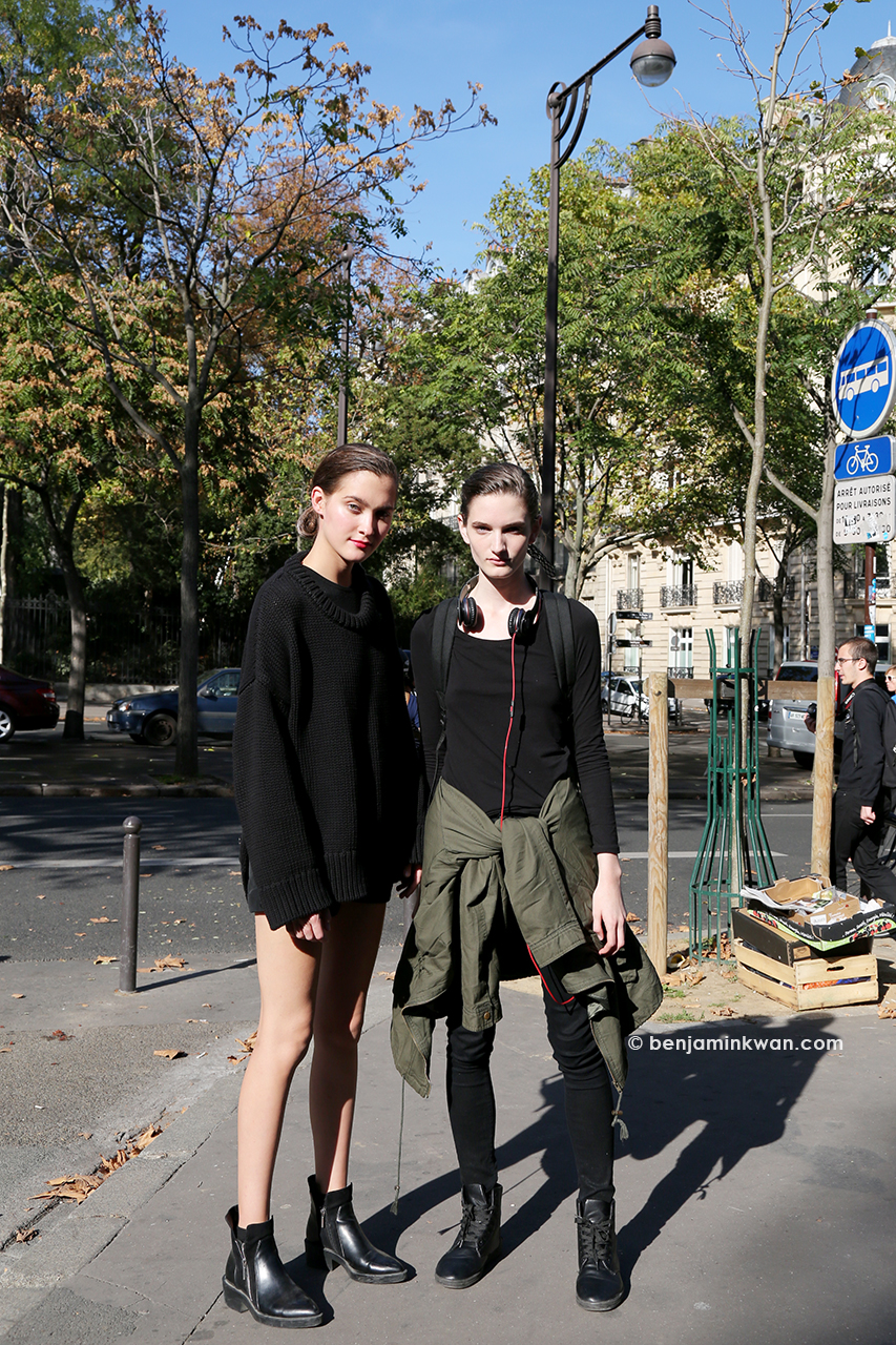 Emma Waldo and Carly Moore at Véronique Leroy SS 2015 Paris Snapped by Benjamin Kwan     Paris Fashion Week