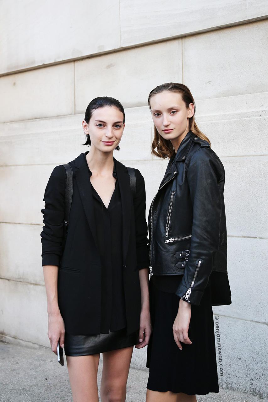 Rose Smith and Alex Yuryeva at Shiatzy Chen SS 2015 Paris Snapped by Benjamin Kwan Paris Fashion Week