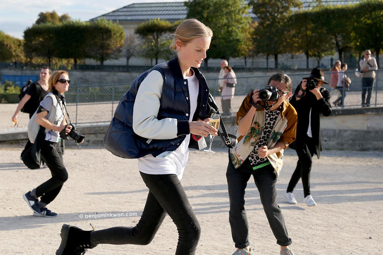 Hanne Gaby Odiele at Nina Ricci SS 2015 Paris Snapped by Benjamin Kwan     Paris Fashion Week