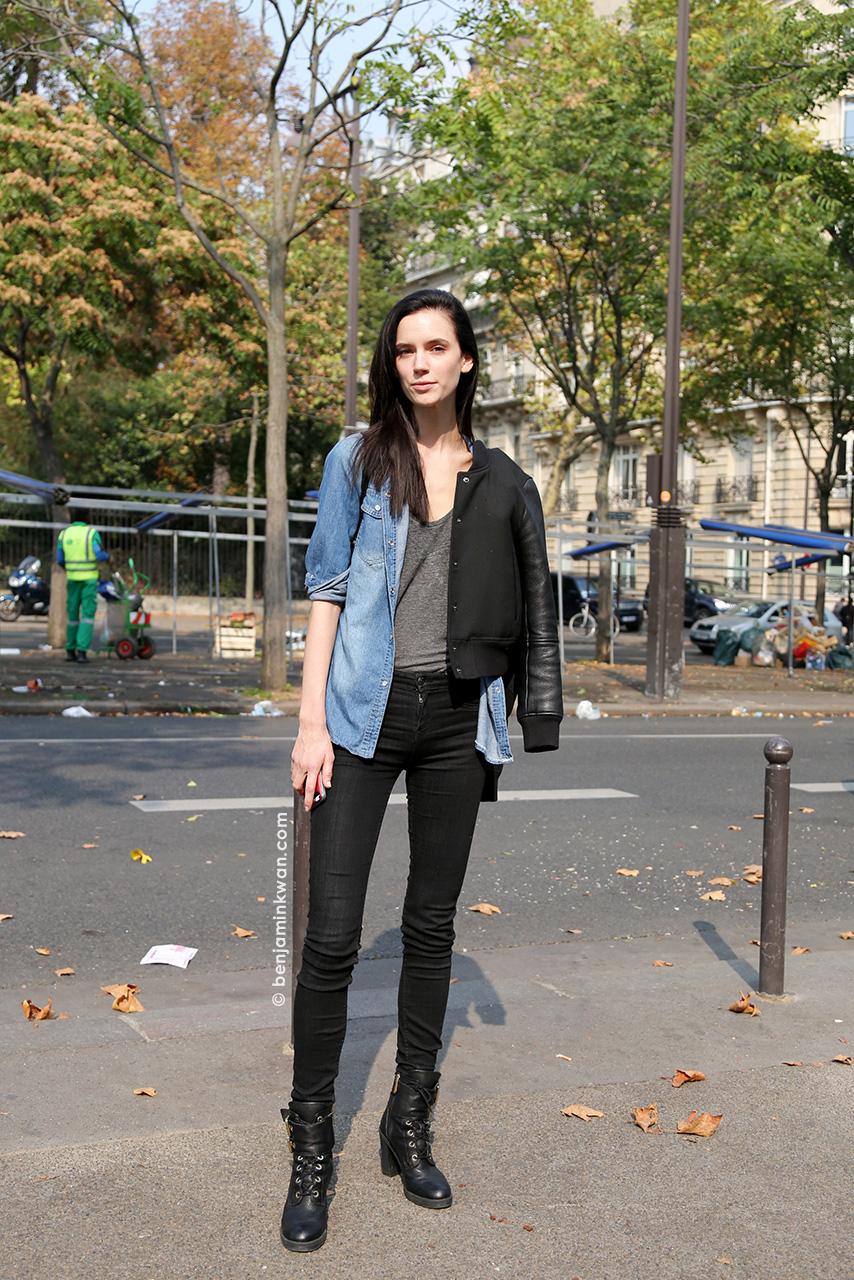 Sarah Stewart at Damir Doma SS 2015 Paris Snapped by Benjamin Kwan Paris Fashion Week