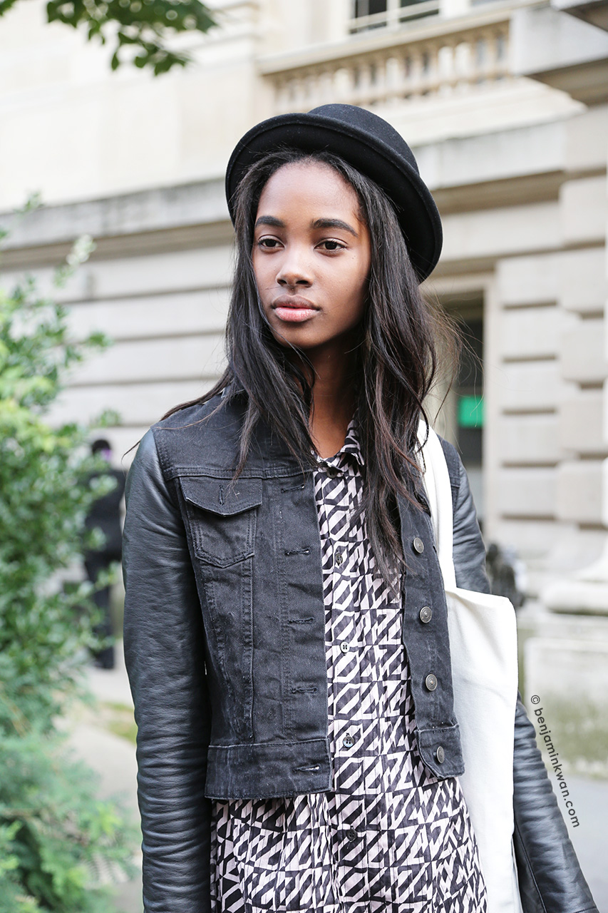 Tami Williams at Dries Van Noten SS 2015 Paris Snapped by Benjamin Kwan     Paris Fashion Week