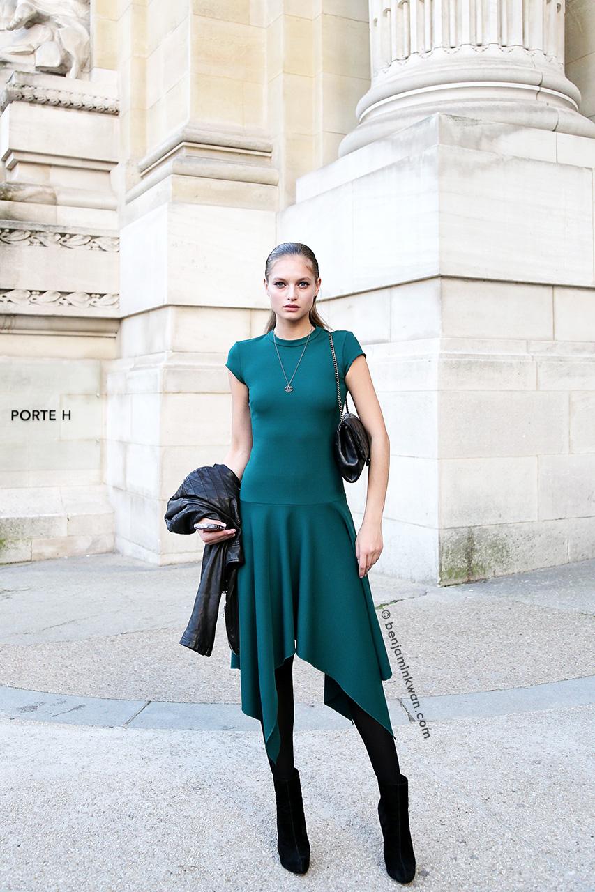 Svetlana Zakharova at Shiatzy Chen SS 2015 Paris Snapped by Benjamin Kwan     Paris Fashion Week