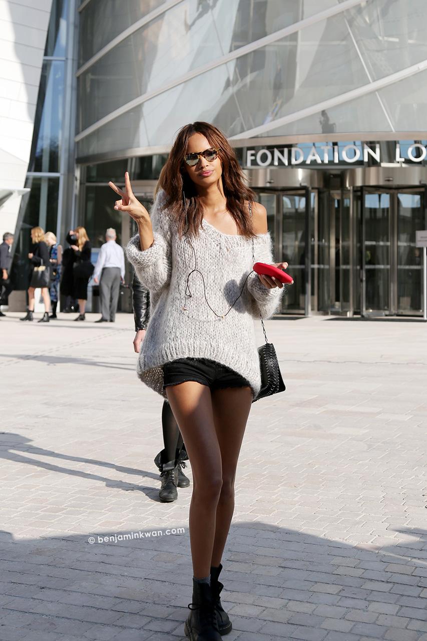 Malaika Firth at Louis Vuitton SS 2015 Paris Snapped by Benjamin Kwan     Paris Fashion Week