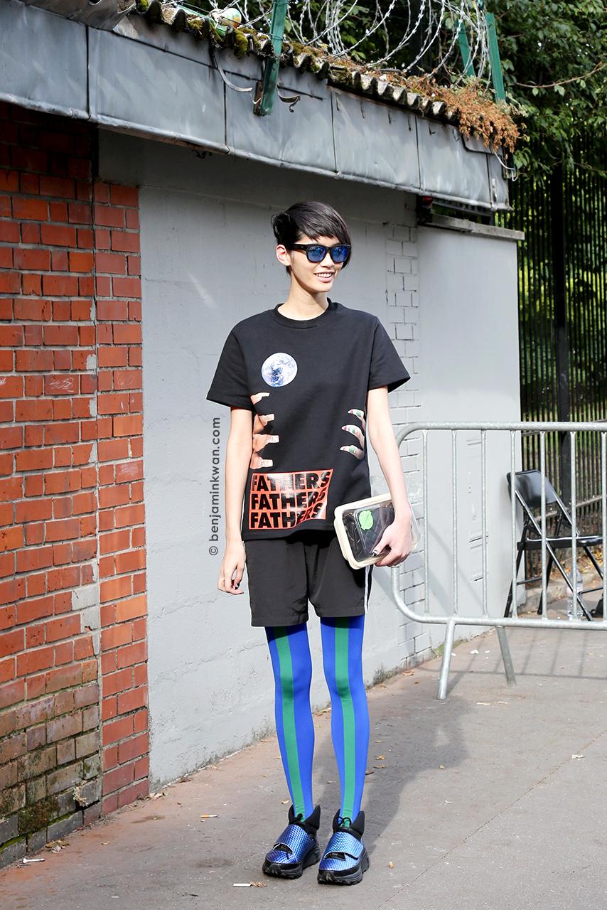 Ming Xi at Kenzo SS 2015 Paris Snapped by Benjamin Kwan Paris Fashion Week