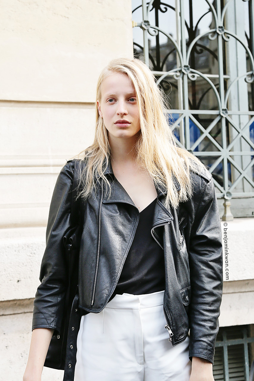Anine van Velzen at Sacai SS 2015 Paris Snapped by Benjamin Kwan     Paris Fashion Week 2015