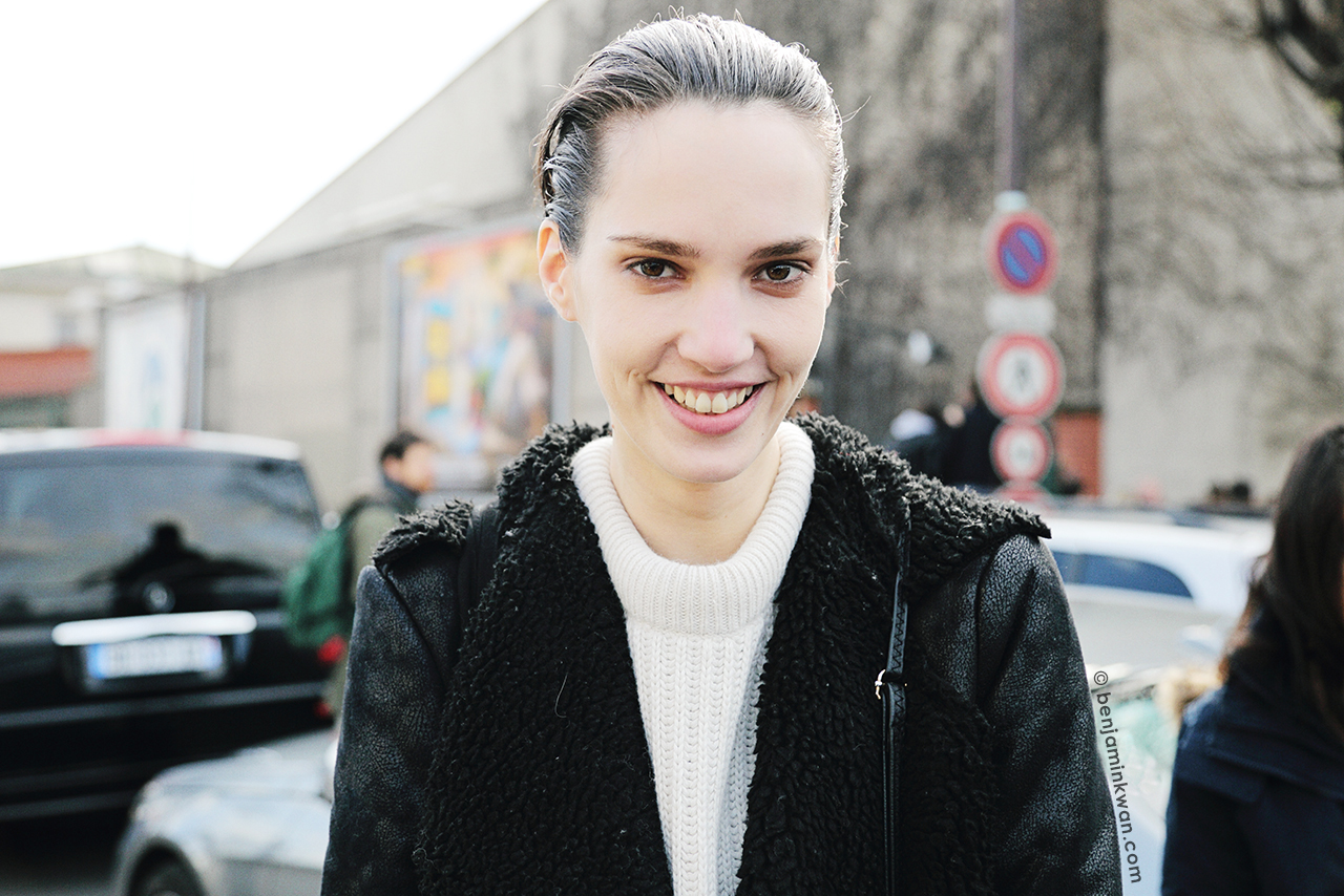 Tabitha Pernar at Celine FW 2014 Paris Snapped by Benjamin Kwan Paris Fashion Week