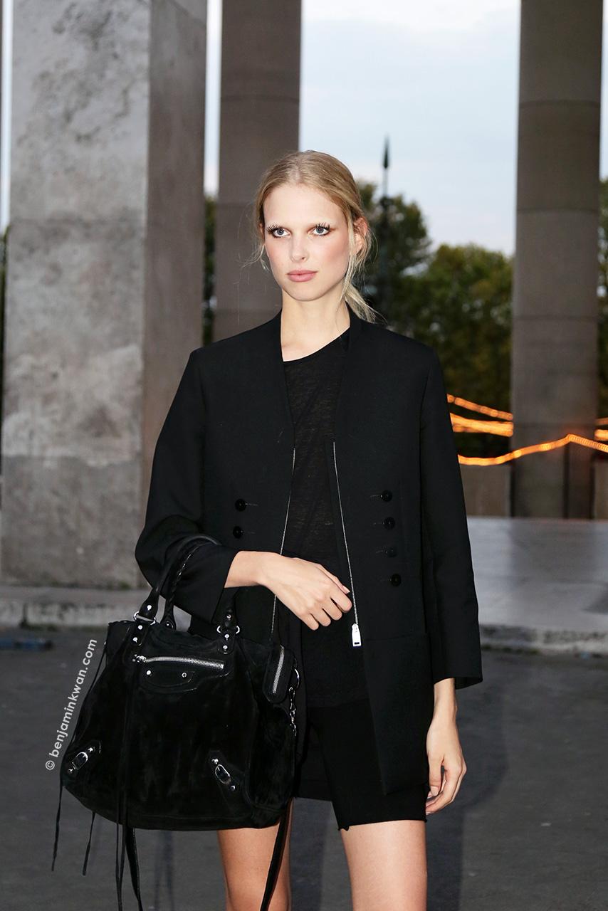 Lina Berg at Paul & Joe SS 2015 Paris Snapped by Benjamin Kwan     Paris Fashion Week