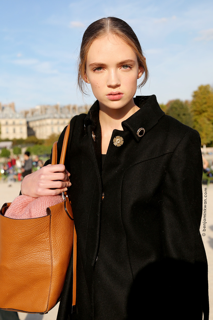 Adrienne Jüliger at Nina Ricci SS 2015 Paris Snapped by Benjamin Kwan Paris Fashion Week 2015
