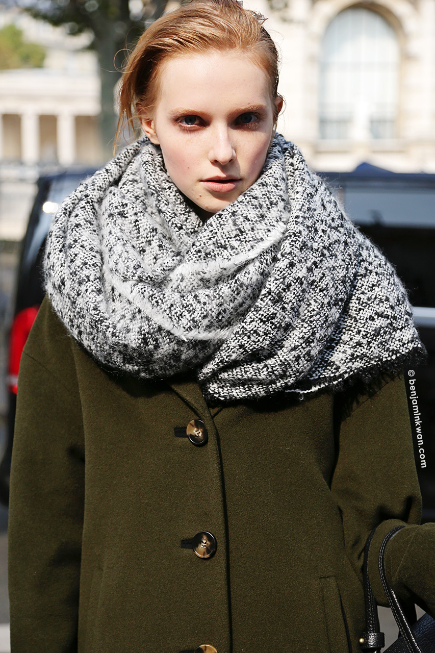 Nastya Zhidkikh at Damir Doma SS 2015 Paris Snapped by Benjamin Kwan     Paris Fashion Week