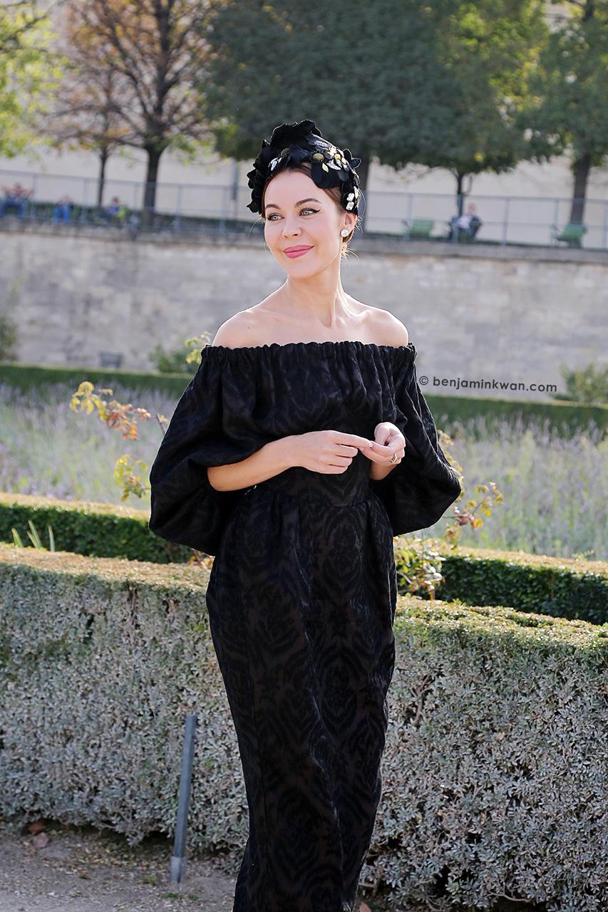 Ulyana Sergeenko at Elie Saab SS 2015 Paris Snapped by Benjamin Kwan Paris Fashion Week