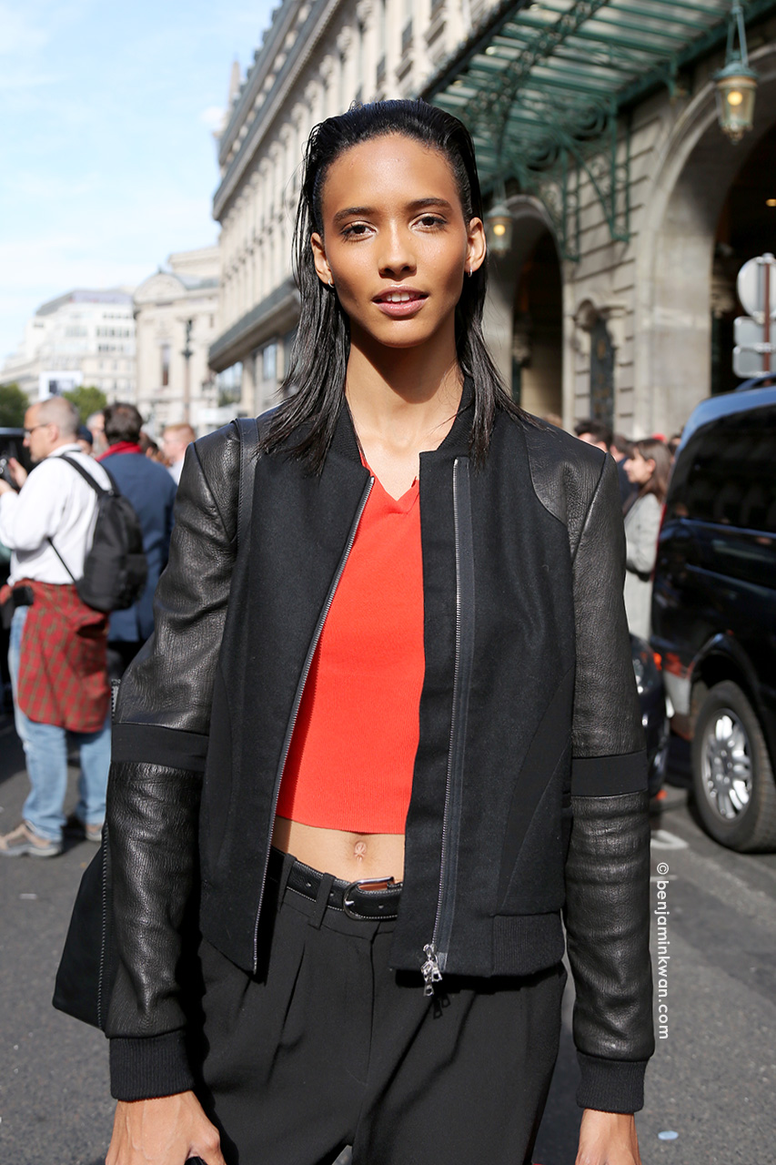 Cora Emmanuel at Balmain SS 2015 Paris Snapped by Benjamin Kwan Paris Fashion Week