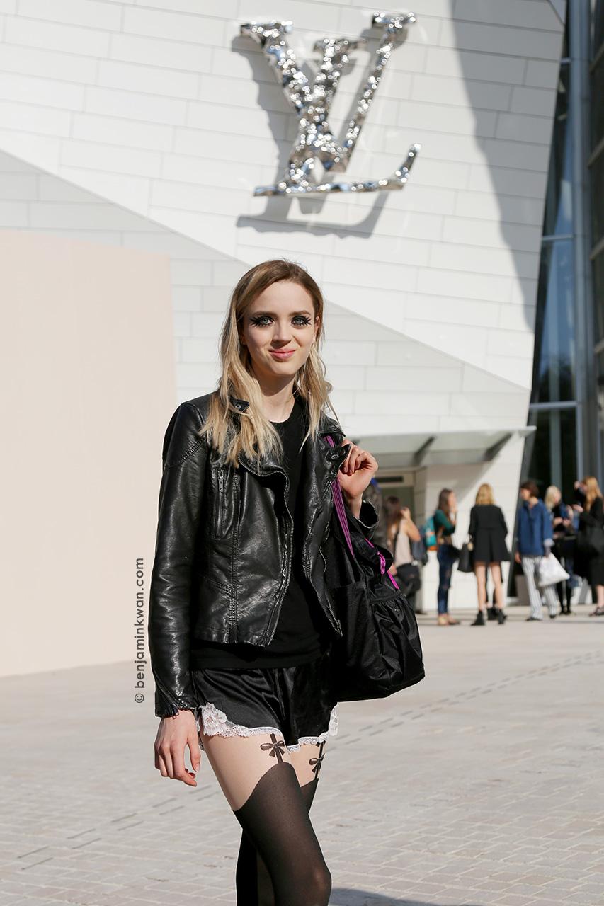 Esmeralda Seay-Reynolds at Louis Vuitton SS 2015 Paris Snapped by Benjamin Kwan     Paris Fashion Week