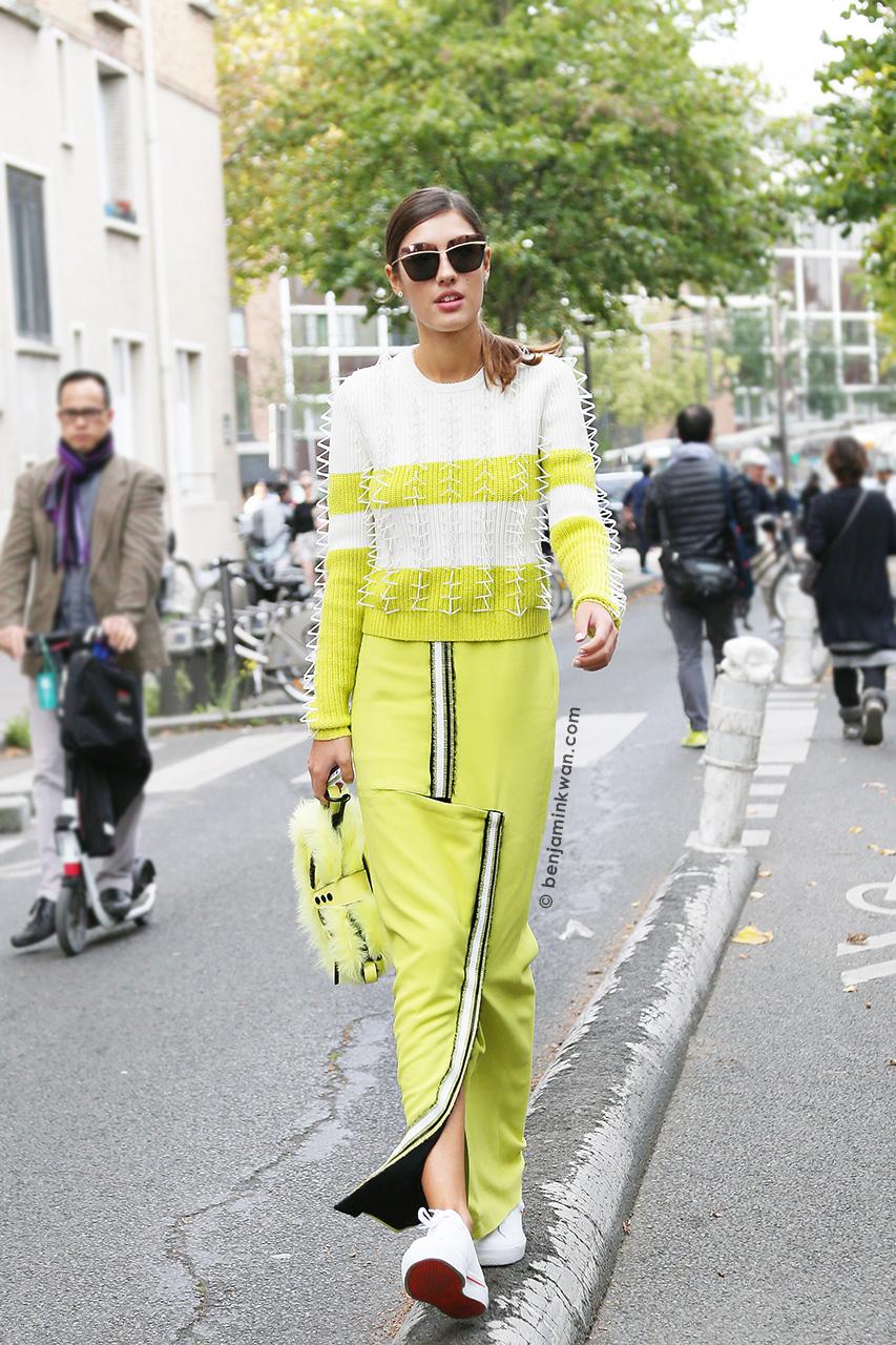 Patricia Manfield at Kenzo SS 2015 Paris Snapped by Benjamin Kwan     Paris Fashion Week