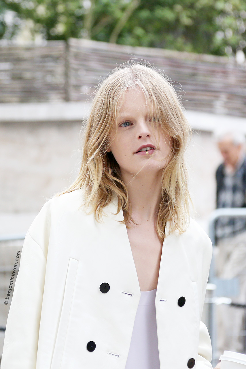 Hanne Gaby Odiele at Dries van Noten SS 2015 Paris Snapped by Benjamin Kwan Paris Fashion Week
