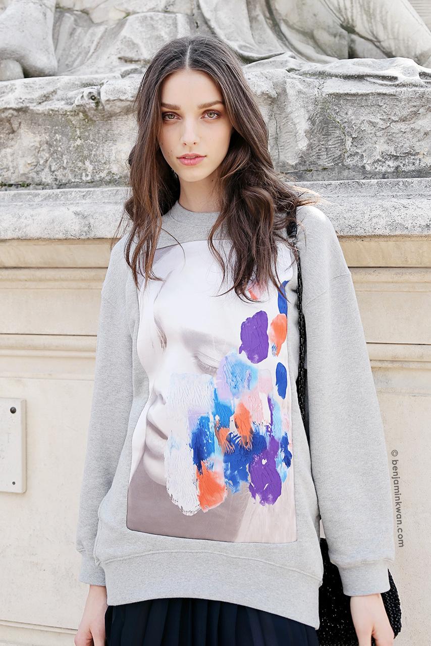 Larissa Marchiori at Valentino SS 2015 Paris Snapped by Benjamin Kwan     Paris Fashion Week