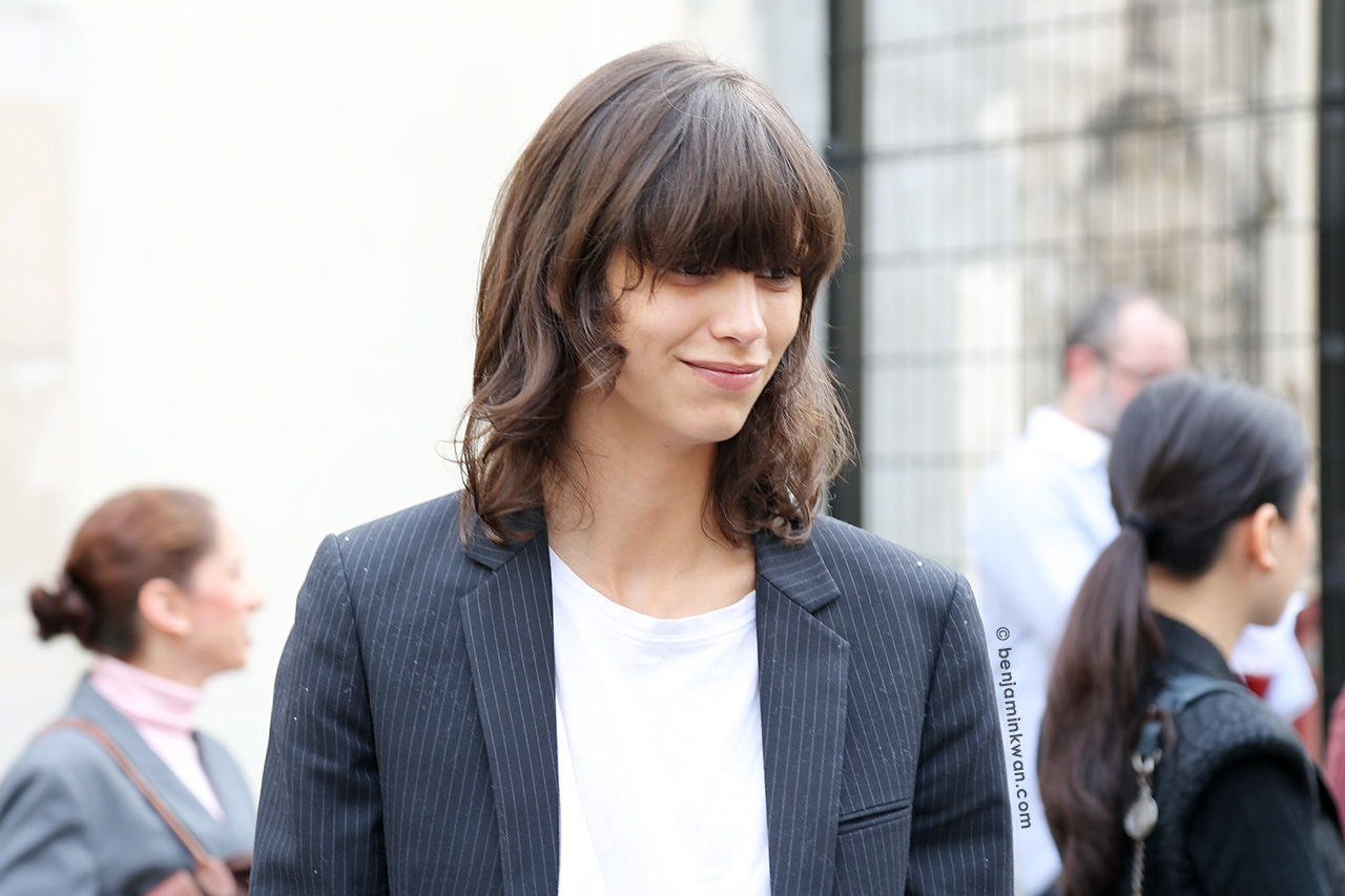 Mica Arganaraz at Sacai SS 2015 Paris Snapped by Benjamin Kwan Paris Fashion Week 2015