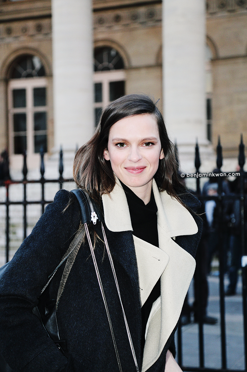 Elise Crombez at Hermes FW 2014 Paris Snapped by Benjamin Kwan     Paris Fashion Week