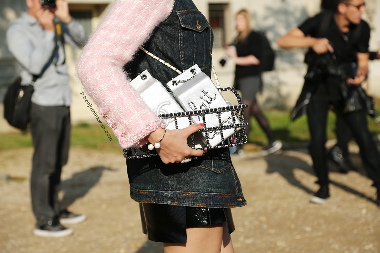 Leaf Greener at Chanel SS 2015 Paris Snapped by Benjamin Kwan     Paris Fashion Week