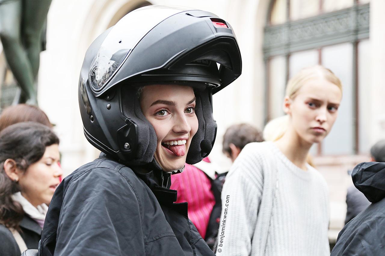 Agne Konciute at Stella McCartney SS 2015 Paris Snapped by Benjamin Kwan     Paris Fashion Week